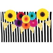 Flower & Stripes Backdrop Kit