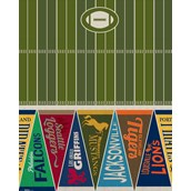 Football Game Time Printed Tablecover