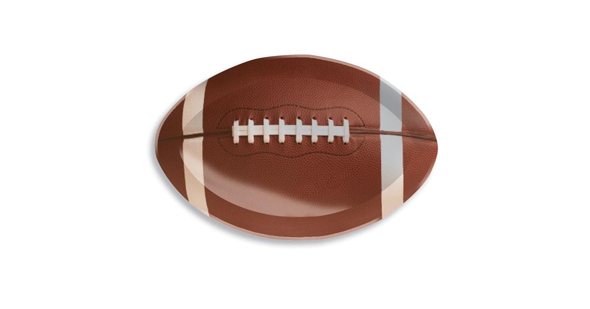 Football Shaped Tray | BirthdayExpress.com