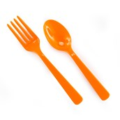 Forks & Spoons - Orange