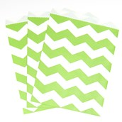 Fresh Lime Chevron Paper Treat Bags (10)
