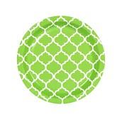 Fresh Lime Quatrefoil Dessert Plates (8)