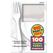 Frosty White Big Party Pack - Forks