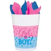 Gender Reveal 16oz Plastic Cups (25)