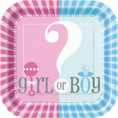 Gender Reveal 9 Luncheon Plates (8)