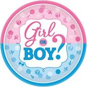 Gender Reveal Dessert Plates (8)