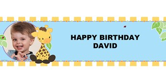 Giraffe Personalized Photo Vinyl Banner