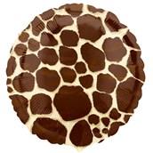 Giraffe Print Foil Balloon