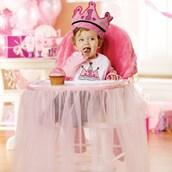 Girls High Chair Skirt & Cover Kit