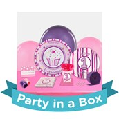 Girls Lil Cupcake 1st Birthday Party in a Box For 8