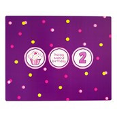 Girl's Lil' Cupcake 2nd Birthday Activity Placemats
