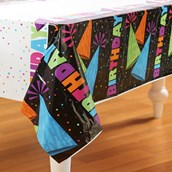 Glow in the Dark Party Plastic Tablecover