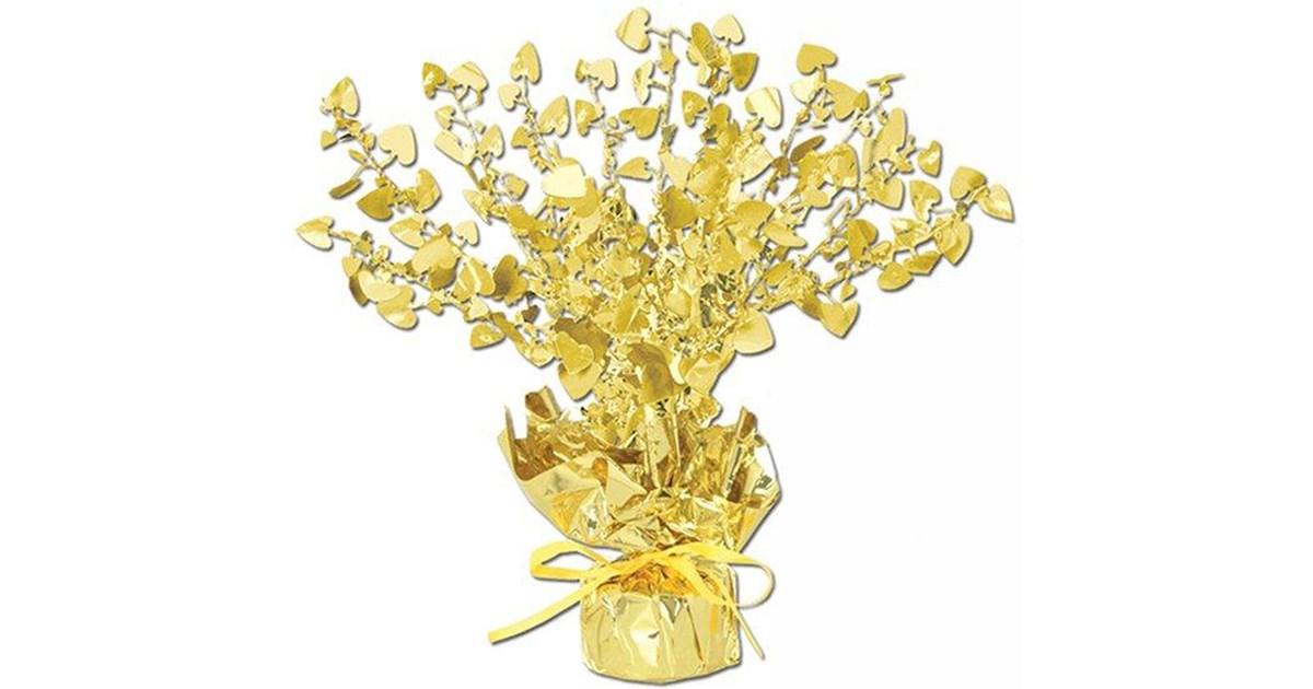 Gold heart foil centerpiece birthdayexpress