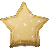 Gold Sparkle Star Foil Balloon