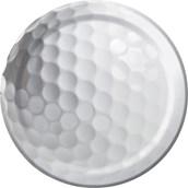 "Golf 7"" Cake Plates (8 Pack)"