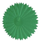"Green 10"" Paper Tissue Fan"