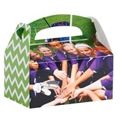 Green and White Chevron - Design Your Own Favor Boxes