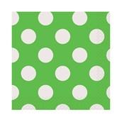 Green and White Dots Beverage Napkins (16)