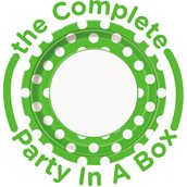 Green and White Dots Party in a Box