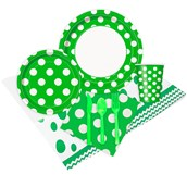 Green And White Dots Party Pack