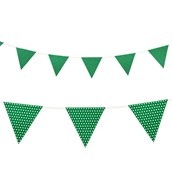 Green with Polka Dots - Paper Flag Banner (1)