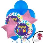 Happy B-day Splatter Balloon Bouquet