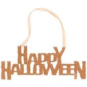 Happy Halloween Glitter Sign