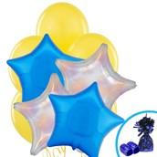 Silver Dazzler & Blue Star Balloon Bouquet