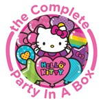 Hello Kitty Rainbow Party in a Box - Deluxe - 8 Guests