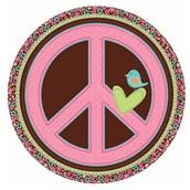 Hippie Chick Dinner Plates