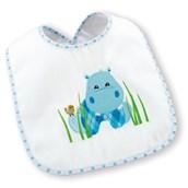 Hippo Blue Bib