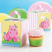 Hippo Pink Cupcake Boxes