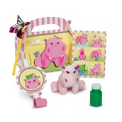 Hippo Pink Filled Party Favor Box
