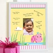 Hippo Pink Framed Signature Matte