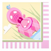 Hippo Pink Lunch Napkins