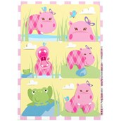 Hippo Pink Stickers