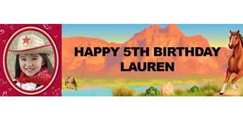 Horse Power Personalized Photo Vinyl Banner