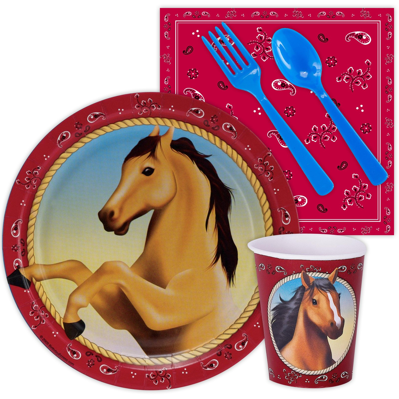 Horse Power Snack Party Pack kids birthday partyware
