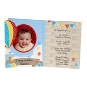 Hot Air Balloon Party Personalized Invitations (8)