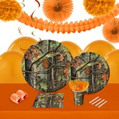Hunting Camo 16 Guest Tableware & Deco Kit
