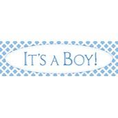 It's a Boy PrePrinted Banner