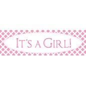 It's a Girl PrePrinted Banner