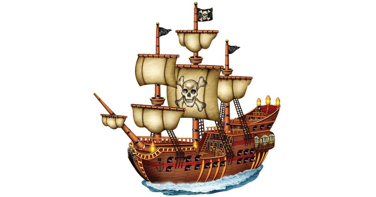 Jointed Pirate Ship Cutout Birthdayexpress Com