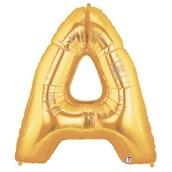 Jumbo Gold Foil Letter-A