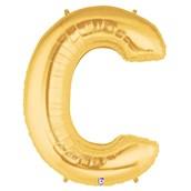 Jumbo Gold Foil Letter-C