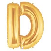 Jumbo Gold Foil Letter-D