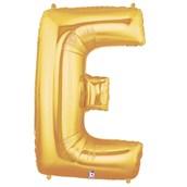 Jumbo Gold Foil Letter-E