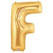 Jumbo Gold Foil Letter-F
