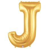Jumbo Gold Foil Letter-J