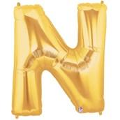 Jumbo Gold Foil Letter-N
